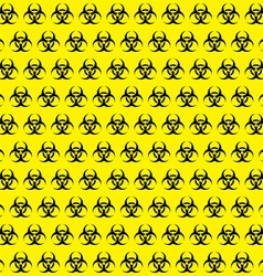 Bio hazard sign pattern vector