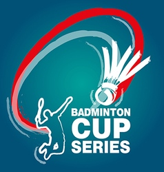 Badminton cup series vector