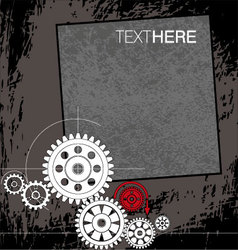 abstract gears background vector image