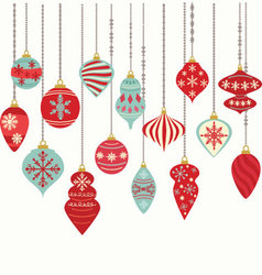 Christmas ornaments decorations vector