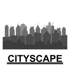 City skyline in grey colors vector