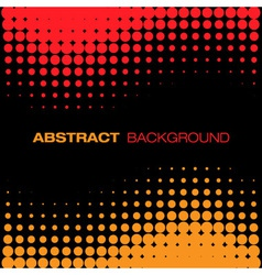 Abstract Black Red Yellow Halftone Background vector image