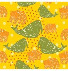 animal kid pattern vector image vector image