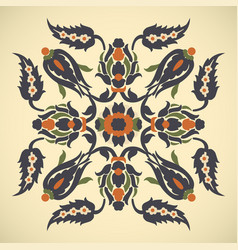 Arabesque vintage decor floral ornate square vector