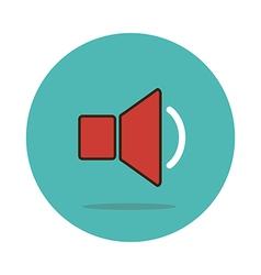 Audio speaker volume icon vector image