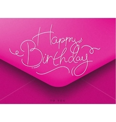 Birthday envelope pink vector image