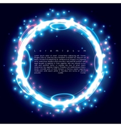 blue ring vector image