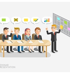 Business meeting with speech bubble template vector image vector image