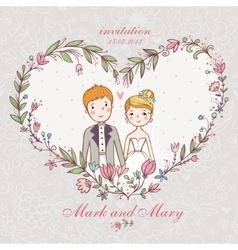 Cartoon concept marriage vector image vector image