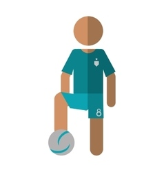 Character player soccer football green uniform vector