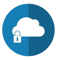 Cloud data security system technology shadow vector