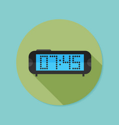 Digital clock flat icon with long shadow eps10 vector