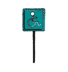 disabled person parking sign icon image vector image