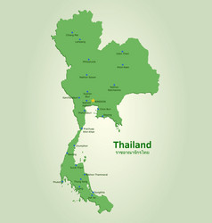 flat map of thailand vector image vector image