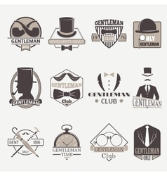 Gentlemens hipster icons vector image vector image