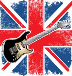 great britain guitar vector image vector image