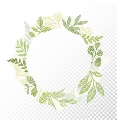 hand drawn circle flaral frame vector image vector image