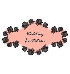 Hand Drawn Wedding Rose Banner vector image