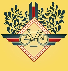 Minimalistic cycling summer inspired background vector