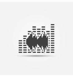 Music sound icon vector image