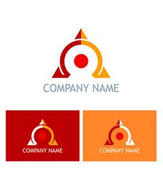 Omega triangle company logo vector