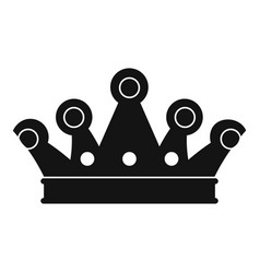 Royal crown icon simple style vector