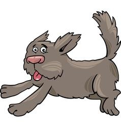 running shaggy dog cartoon vector image