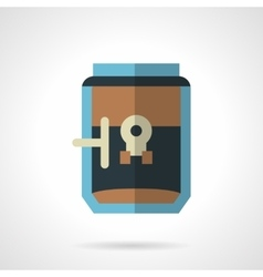 Simple flat color style coffee maker icon vector image