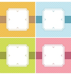 square frame decorations vector image