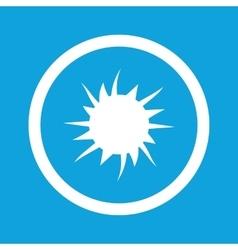 Starburst sign icon vector
