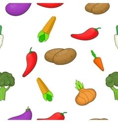 Vegetables pattern cartoon style vector