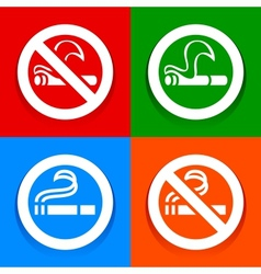 No smoking and Smoking area - Multicolored vector image