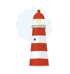 Striped lighthouse vector