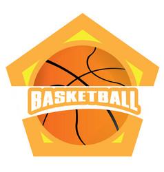 isolated basketball emblem vector image
