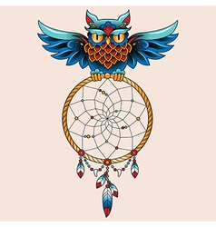 Tattoo dream owl vector