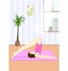 Young woman doing the yoga vector
