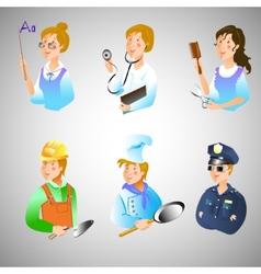 set profession vector image