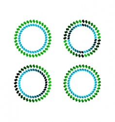 Coloured circles vector