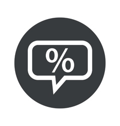 Round percent dialog icon vector