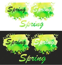 Spring watercolor fill vector