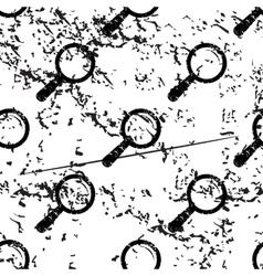 Magnifier pattern grunge monochrome vector