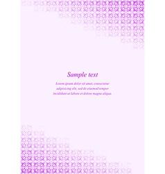 Purple page corner design template vector