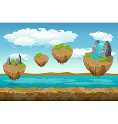 Jumping islands game pattern the river bottom and vector