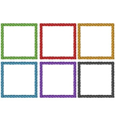 Frame design in six colors vector