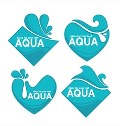 Water stickers vector