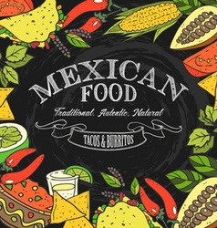 Mexican food sign vector
