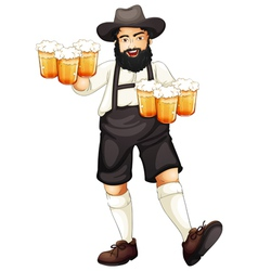 Man celebrating oktoberfest vector