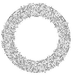 Abstract halftone circular frame background eps vector