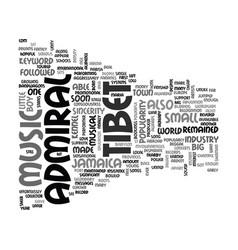 Admiral tibet text word cloud concept vector
