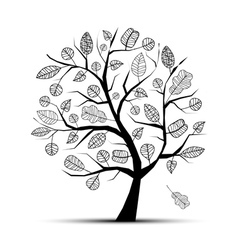 Art tree beautiful vector image vector image